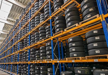Huge Racks Of Tires