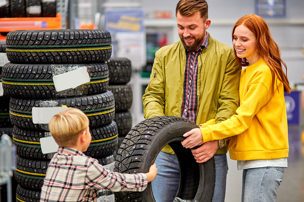 Family Holding Tire